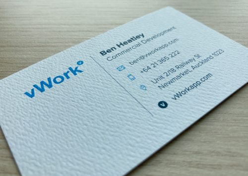 Mohawk business card
